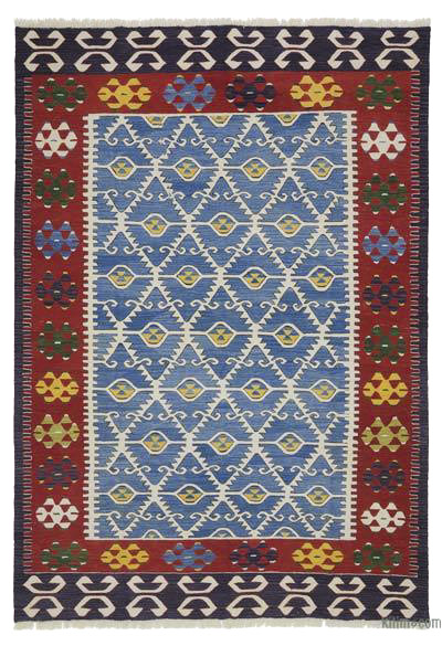 "New Turkish Kilim Rug  - 6' 9"" x 9' 8"" (81 in. x 116 in.)"