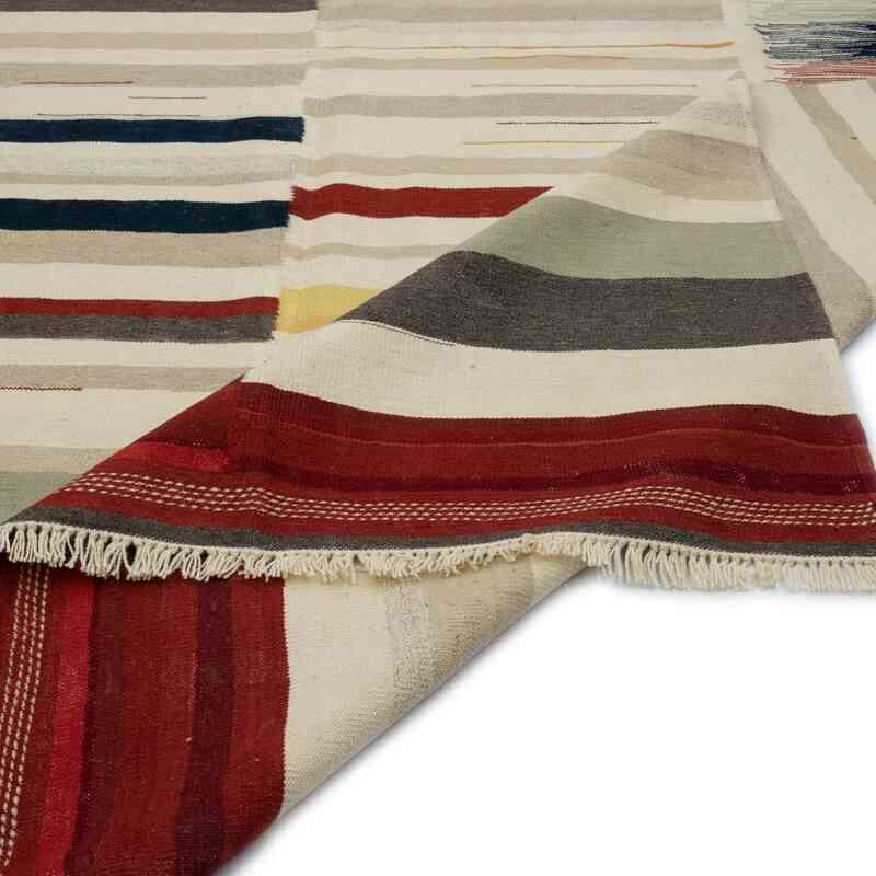 Multicolor Nueva Alfombra Turca Kilim - K0048242