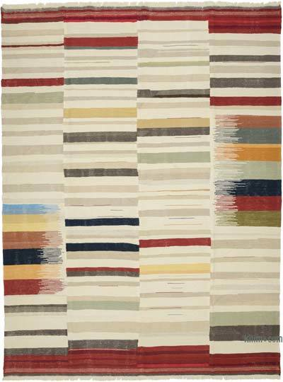 "New Turkish Kilim Rug  - 9'5"" x 12'6"" (113 in. x 150 in.)"