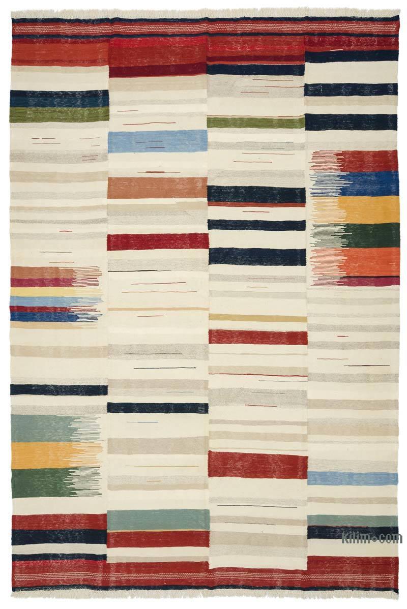 Multicolor New Turkish Kilim Rug - K0048246