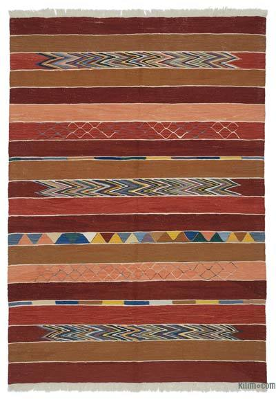 "New Turkish Kilim Rug  - 5' 7"" x 8'  (67 in. x 96 in.)"