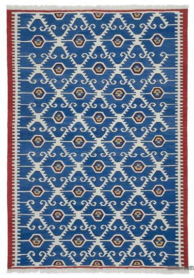 "New Turkish Kilim Rug  - 6' 1"" x 8' 9"" (73 in. x 105 in.)"