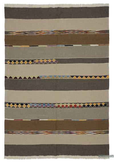 "New Turkish Kilim Rug  - 5' 10"" x 8' 2"" (70 in. x 98 in.)"