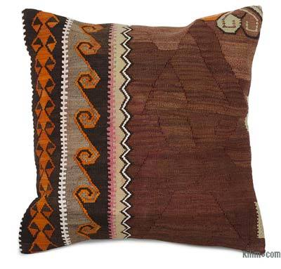 """Kilim Pillow Cover - 1' 8"""" x 1' 8"""" (20 in. x 20 in.)"""