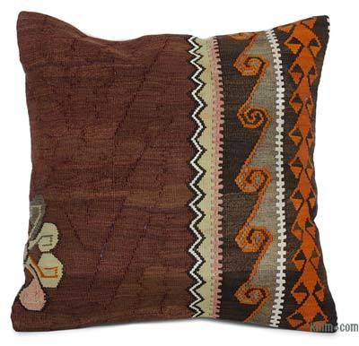 """Kilim Pillow Cover - 1'8"""" x 1'8"""" (20 in. x 20 in.)"""