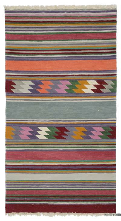 "New Handwoven Turkish Kilim Rug - 4' 1"" x 7' 5"" (49 in. x 89 in.)"