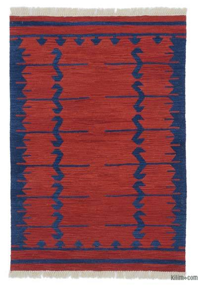 "New Handwoven Turkish Kilim Rug - 3' 3"" x 4' 9"" (39 in. x 57 in.)"
