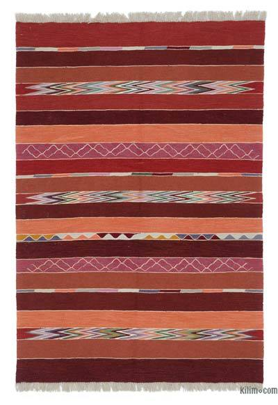 "New Handwoven Turkish Kilim Rug - 4' 3"" x 6' 2"" (51 in. x 74 in.)"