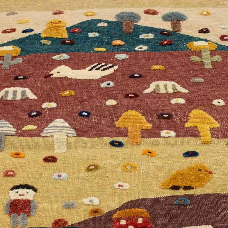 Çok Renkli Yeni Kök Boya El Dokuma Kilim - 97 cm x 160 cm - K0048522