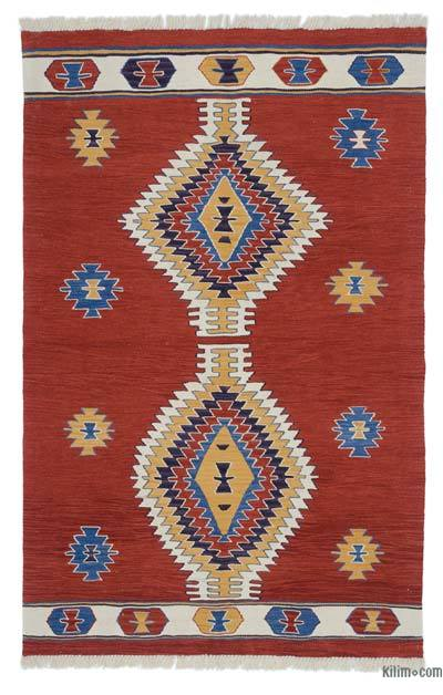 "New Handwoven Turkish Kilim Rug - 4'  x 6' 3"" (48 in. x 75 in.)"