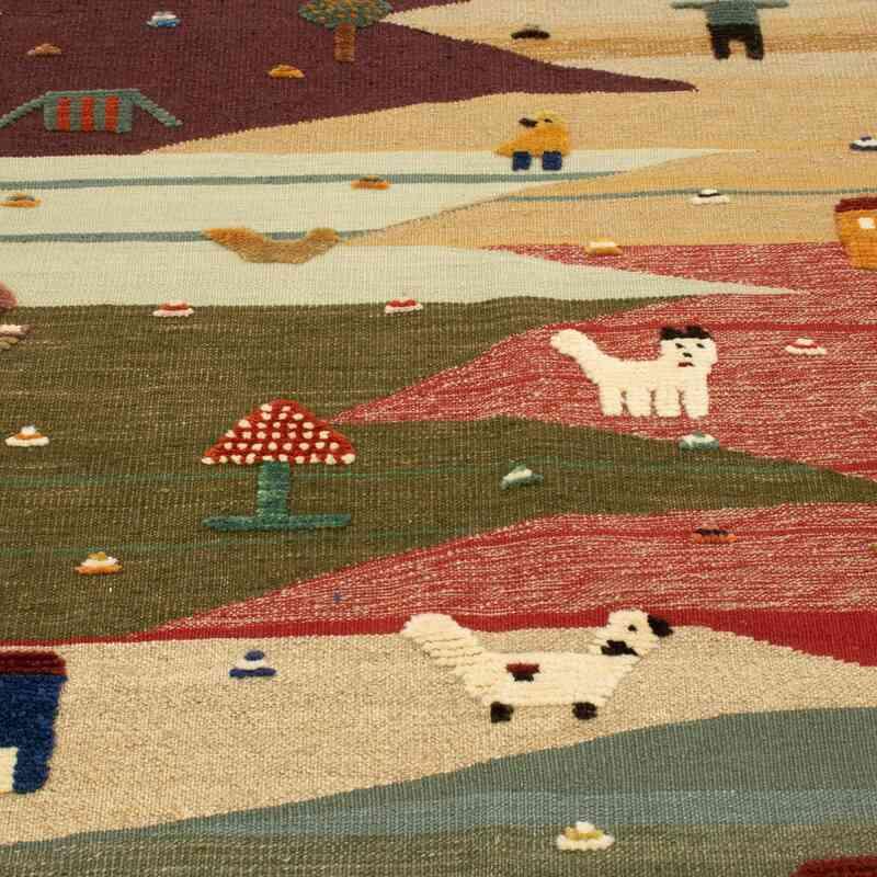 Çok Renkli Yeni Kök Boya El Dokuma Kilim - 112 cm x 172 cm - K0048526