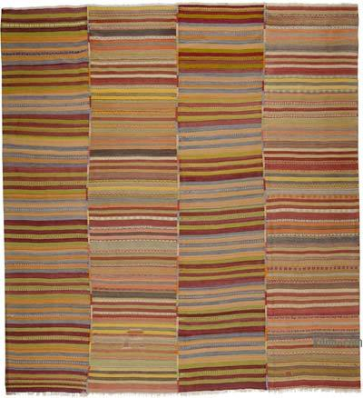 """Multicolor Vintage Cappadocia Kilim Rug - 11' 6"""" x 12' 4"""" (138 in. x 148 in.)"""
