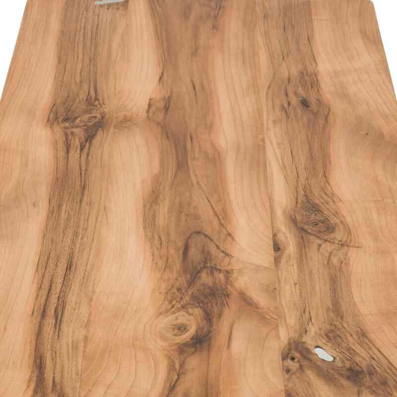Solid Walnut Coffee Table with Cast Aluminium Legs - K0048534