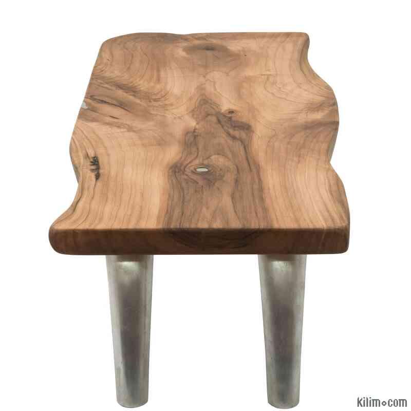 Solid Walnut Coffee Table with Cast Aluminium Legs - K0048535
