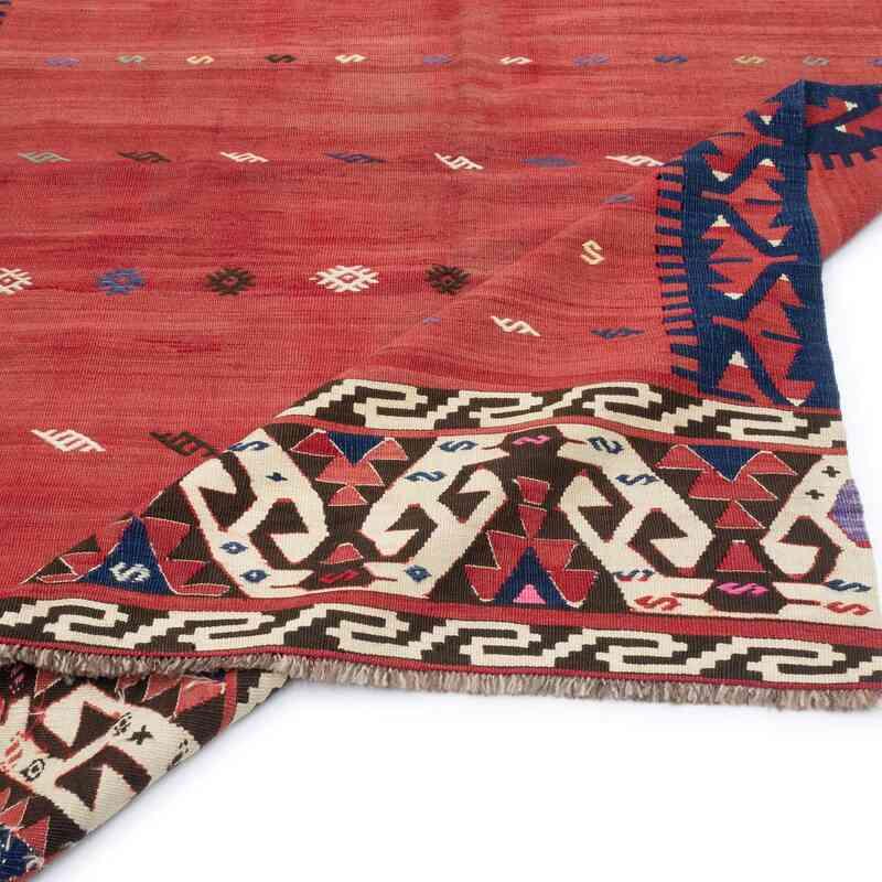 "Red Antique ""Yuncu"" Kilim Rug - K0048539"