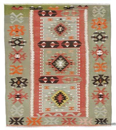 Vintage Oushak Kilim Rug