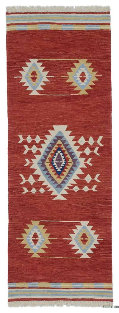 "New Turkish Kilim Runner - 2' 5"" x 6' 9"" (29 in. x 81 in.)"