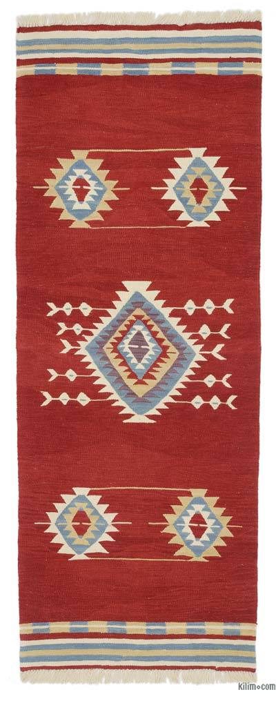 "New Turkish Kilim Runner - 2' 9"" x 7' 4"" (33 in. x 88 in.)"
