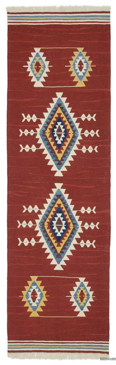 "New Turkish Kilim Runner - 2' 11"" x 9' 8"" (35 in. x 116 in.)"