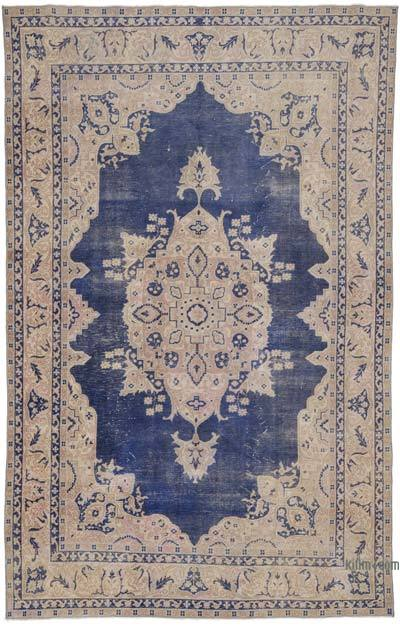 "Vintage Turkish Hand-knotted Area Rug - 6' 4"" x 9' 11"" (76 in. x 119 in.)"