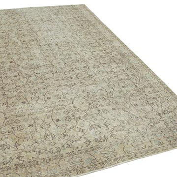"""Vintage Turkish Hand-Knotted Rug - 5' 8"""" x 9' 1"""" (68 in. x 109 in.) - K0048562"""