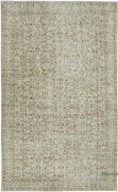 """Vintage Turkish Hand-knotted Area Rug - 5' 8"""" x 9' 1"""" (68 in. x 109 in.)"""