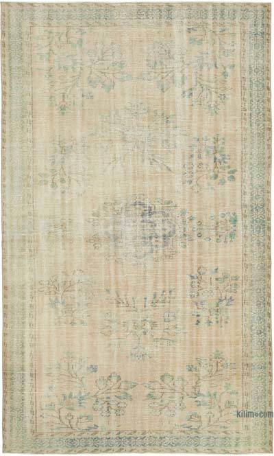 "Vintage Turkish Hand-knotted Area Rug - 5' 11"" x 9' 9"" (71 in. x 117 in.)"
