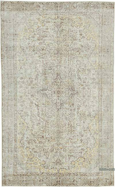 """Vintage Turkish Hand-Knotted Rug - 5' 5"""" x 8' 10"""" (65 in. x 106 in.)"""