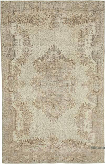 """Vintage Turkish Hand-knotted Area Rug - 6' 6"""" x 10' 1"""" (78 in. x 121 in.)"""
