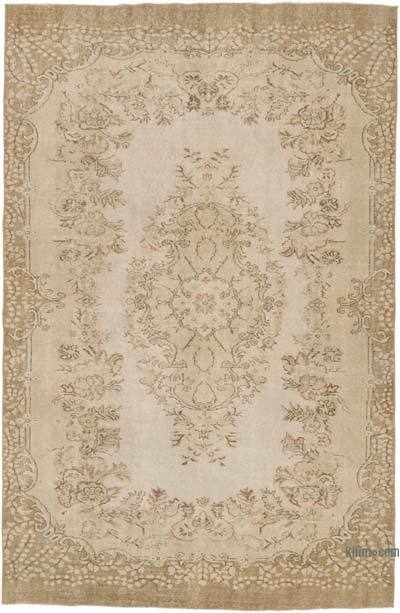 """Vintage Turkish Hand-knotted Area Rug - 5' 10"""" x 9'  (70 in. x 108 in.)"""