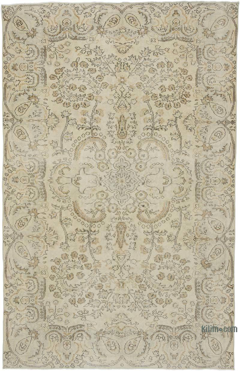 """Vintage Turkish Hand-Knotted Rug - 5' 11"""" x 9' 3"""" (71 in. x 111 in.) - K0048571"""