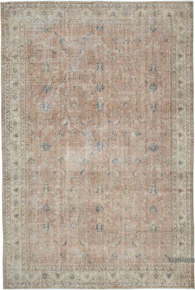 Vintage El Dokuma Anadolu Halısı - 213 cm x 312 cm