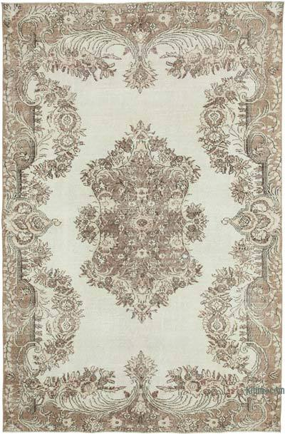 """Vintage Turkish Hand-knotted Area Rug - 6' 5"""" x 9' 8"""" (77 in. x 116 in.)"""