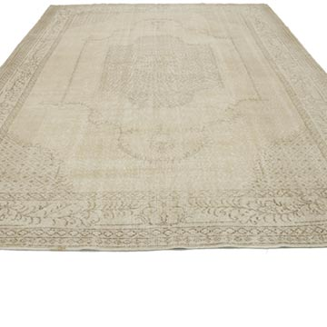 """Vintage Turkish Hand-Knotted Rug - 7' 4"""" x 10' 2"""" (88 in. x 122 in.) - K0048576"""