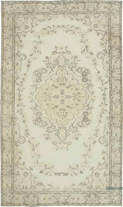 """Vintage Turkish Hand-knotted Area Rug - 5' 9"""" x 9' 8"""" (69 in. x 116 in.)"""