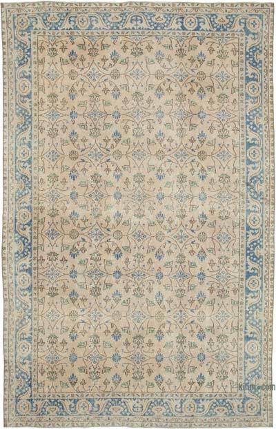 """Vintage Turkish Hand-knotted Area Rug - 6' 6"""" x 10' 3"""" (78 in. x 123 in.)"""