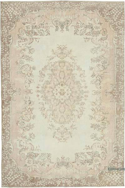 "Vintage Turkish Hand-knotted Area Rug - 6' 6"" x 9' 9"" (78 in. x 117 in.)"