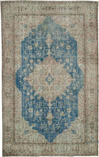 "Vintage Turkish Hand-knotted Area Rug - 7' 5"" x 11' 9"" (89 in. x 141 in.)"