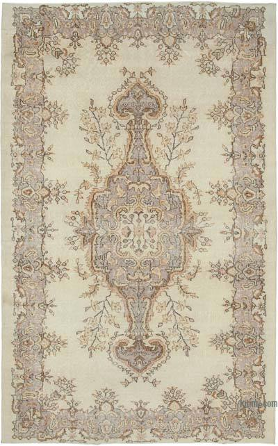 "Vintage Turkish Hand-knotted Area Rug - 6'  x 9' 8"" (72 in. x 116 in.)"