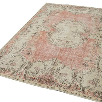 """Vintage Turkish Hand-Knotted Rug - 5' 11"""" x 9' 4"""" (71 in. x 112 in.) - K0048594"""