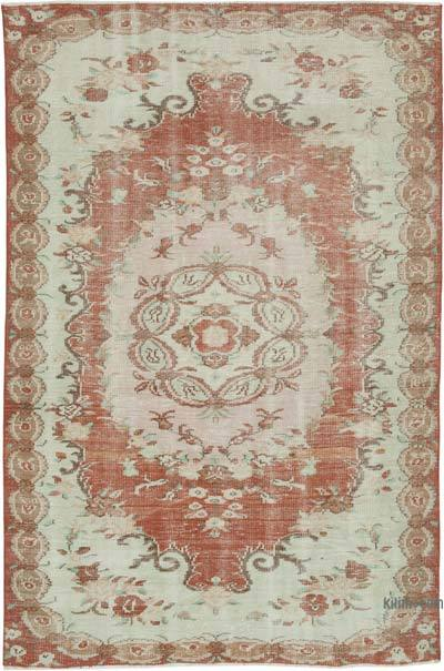 "Vintage Turkish Hand-knotted Area Rug - 5' 9"" x 8' 10"" (69 in. x 106 in.)"