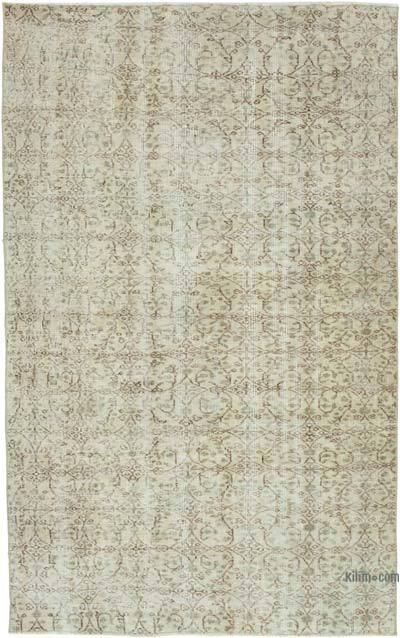 """Vintage Turkish Hand-Knotted Rug - 4' 10"""" x 7' 6"""" (58 in. x 90 in.)"""