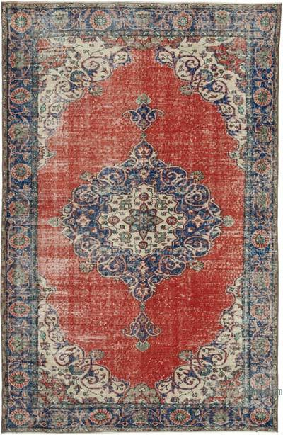 """Vintage Turkish Hand-knotted Area Rug - 5' 10"""" x 8' 11"""" (70 in. x 107 in.)"""