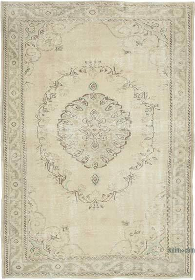 """Vintage Turkish Hand-knotted Area Rug - 6' 6"""" x 9' 3"""" (78 in. x 111 in.)"""