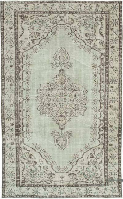 "Vintage Turkish Hand-knotted Area Rug - 5' 7"" x 9' 1"" (67 in. x 109 in.)"