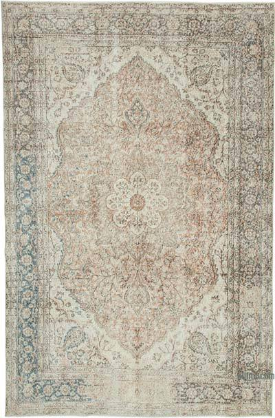 """Vintage Turkish Hand-Knotted Rug - 6' 7"""" x 10'  (79 in. x 120 in.)"""