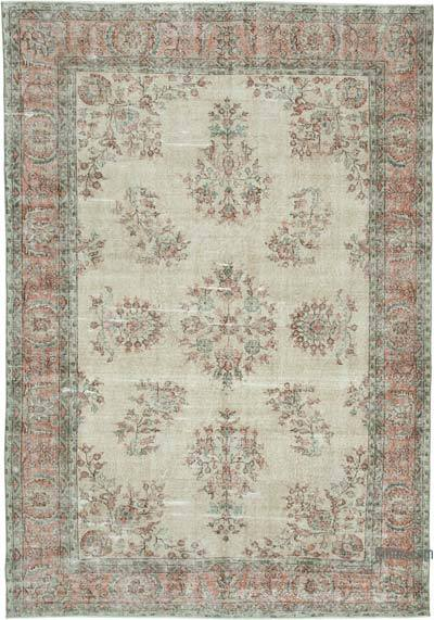 "Vintage Turkish Hand-knotted Area Rug - 6' 9"" x 9' 10"" (81 in. x 118 in.)"