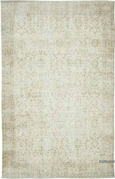 "Vintage Turkish Hand-knotted Area Rug - 6' 6"" x 10' 3"" (78 in. x 123 in.)"