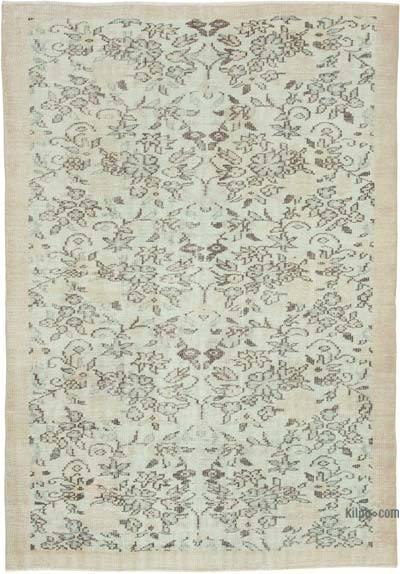 """Vintage Turkish Hand-Knotted Rug - 5' 5"""" x 7' 7"""" (65 in. x 91 in.)"""