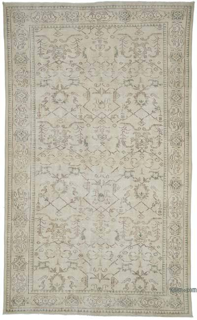 "Vintage Turkish Hand-knotted Area Rug - 5' 10"" x 9' 8"" (70 in. x 116 in.)"